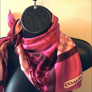 Coach Pink Breast Cancer Awareness Scarf